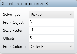 X position solve on object 3