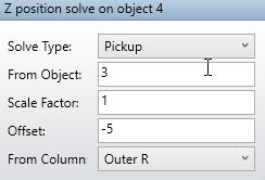 Z position solve on object 4