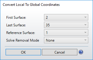 Convert local to global