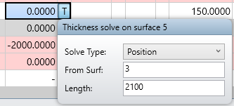 thickness solve on surface 5