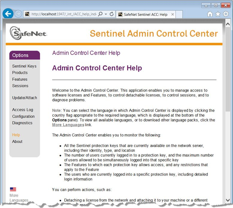 Admin Control Help Center