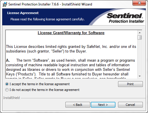 sentinel protection installer 2nd