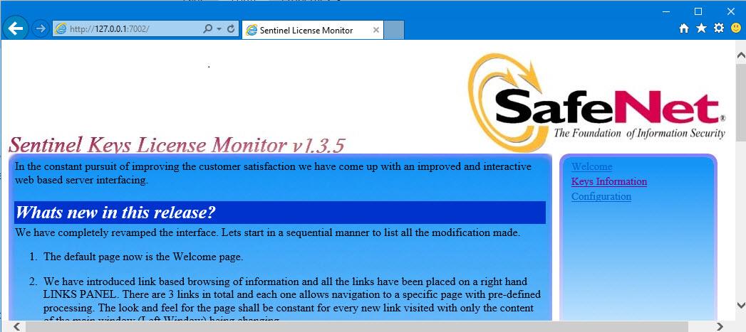 sentinel keys license monitor