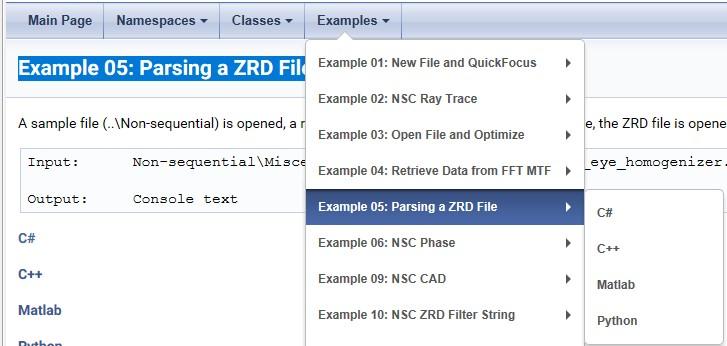ZOSAPI Syntax Help Example 05