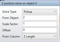 Z position solve on object 3