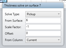 Thickness solve on surface 7
