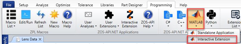 Run Interactive Extension