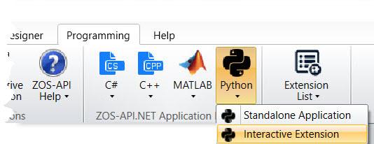 Programming > Python > Interactive Extension