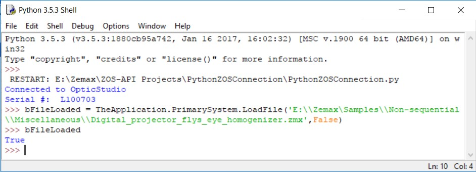 Python Shell returns True