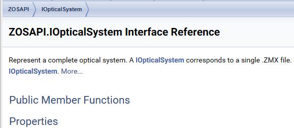 Attributes of IOpticalSystem